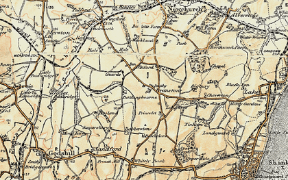 Old map of Branstone in 1899