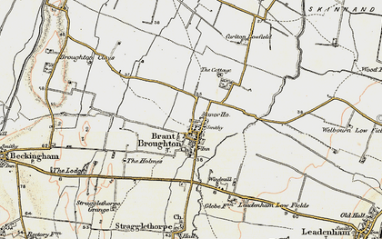Old map of Brant Broughton in 1902-1903