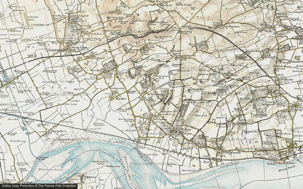 Old Map of Brantingham, 1903-1908 in 1903-1908