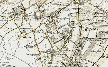 Old map of Brantingham in 1903-1908