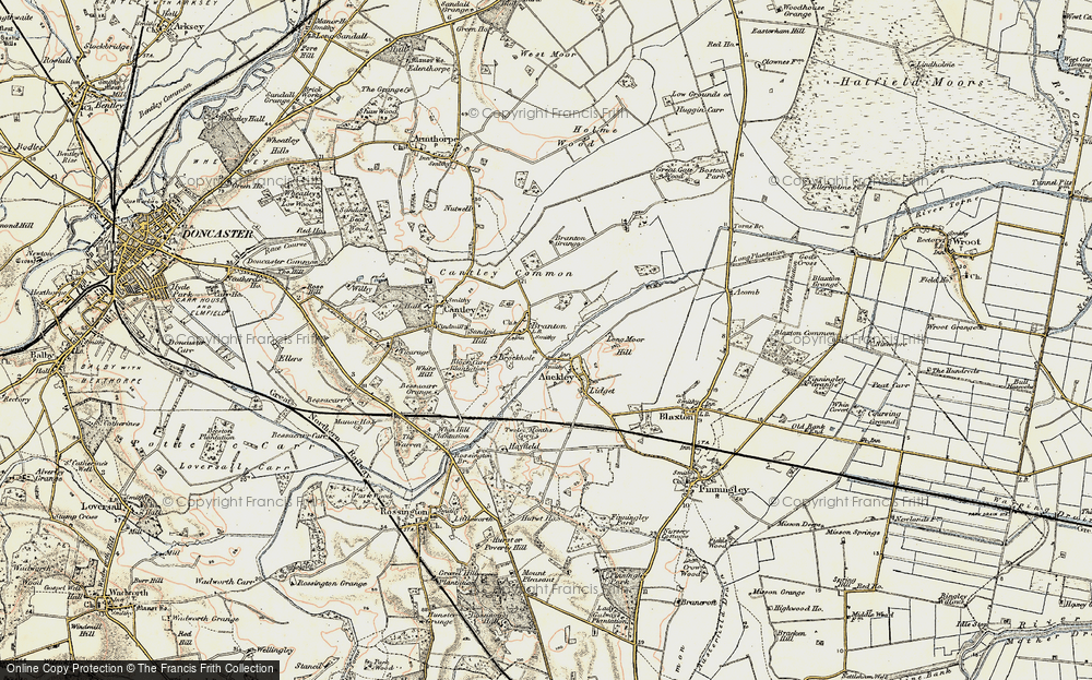 Old Map of Branton, 1903 in 1903