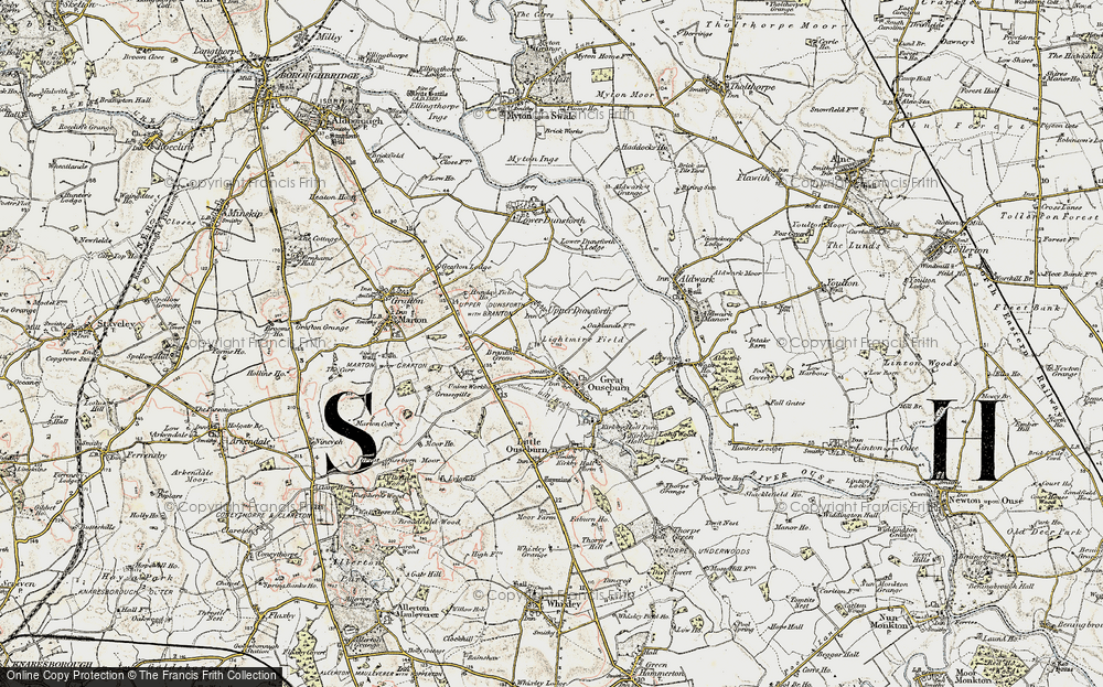 Old Map of Historic Map covering Lightmire Field in 1903-1904