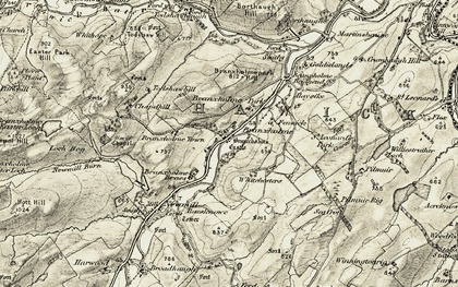 Old map of Todshawhaugh in 1901-1904