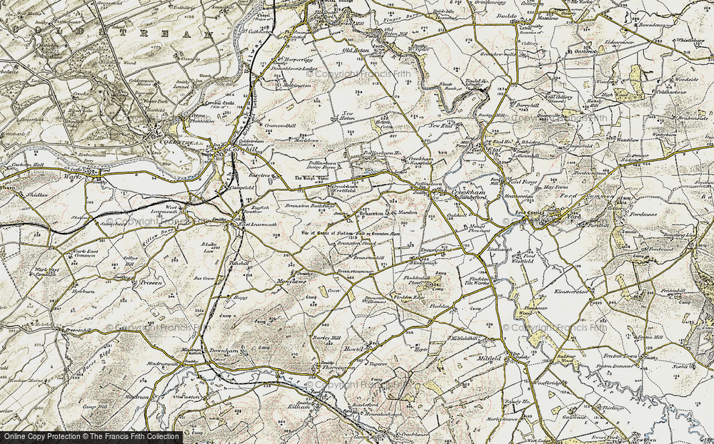 Old Map of Branxton, 1901-1903 in 1901-1903