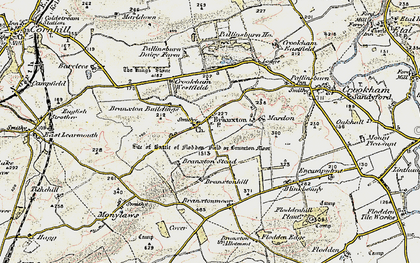 Old map of Branxton in 1901-1903