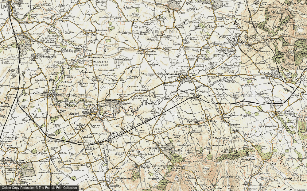 Old Map of Historic Map covering Leven Mouth in 1903-1904