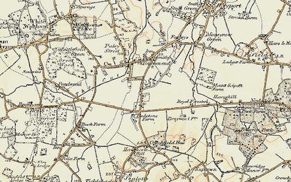 Old map of Braywoodside in 1897-1909