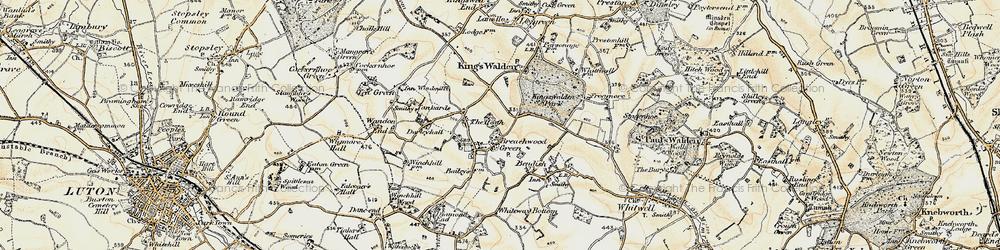 Old map of Breachwood Green in 1898-1899