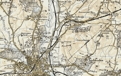 Old map of Breadsall Hilltop in 1902-1903