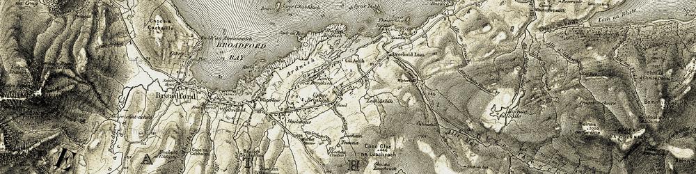 Old map of Tobar Ashik in 1906-1909