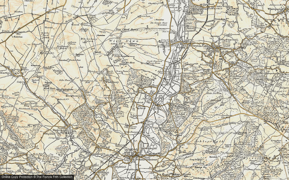 Old Map of Breamore, 1897-1909 in 1897-1909
