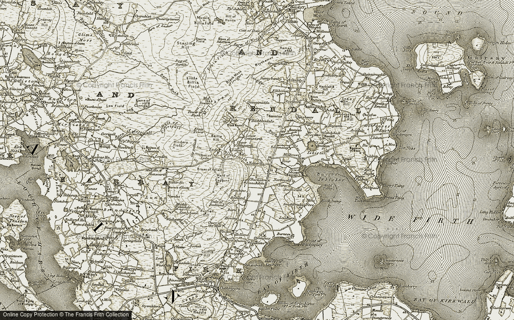 Old Map of Historic Map covering Backatown in 1911-1912