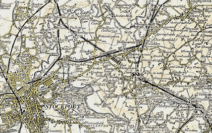 Old map of Bredbury in 1903
