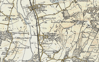 Old map of Woollas Hall in 1899-1901