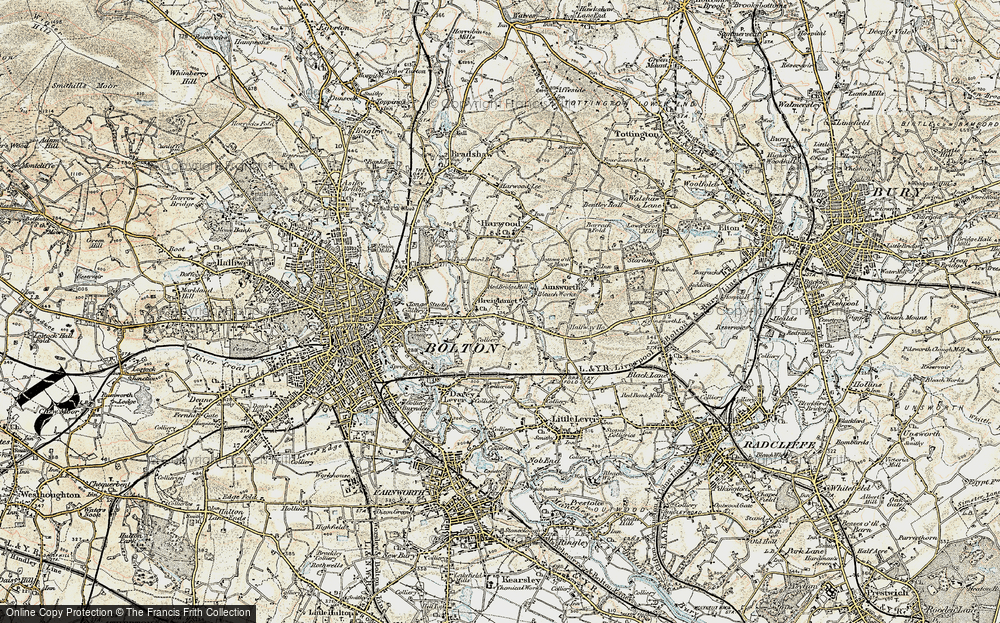 Old Map of Breightmet, 1903 in 1903