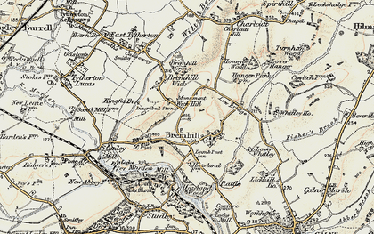 Old map of Wick Hill in 1899