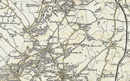 Old map of Brentry in 1899