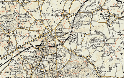 Old map of Brentwood in 1898