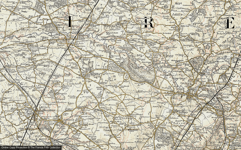 Old Map of Brereton Heath, 1902-1903 in 1902-1903