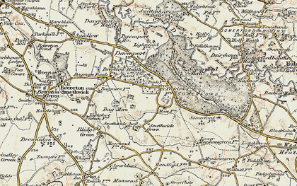 Old map of Brereton Heath in 1902-1903