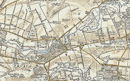 Old map of Langmere Boxes in 1901