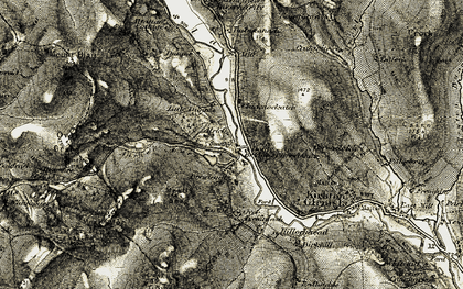 Old map of Alrick in 1907-1908