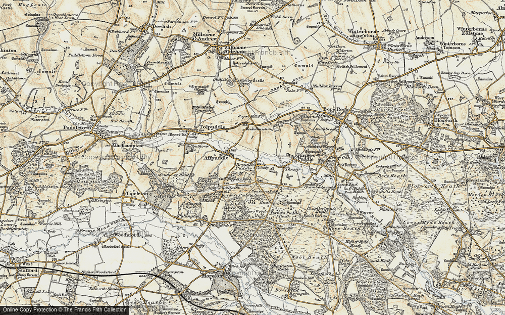 Old Map of Historic Map covering Ashley Barn in 1899-1909