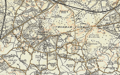Old map of Westcroft Park in 1897-1909