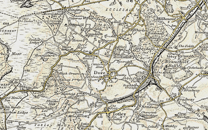 Old map of Limb Brook in 1902-1903