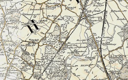 Old map of Bricket Wood in 1897-1898