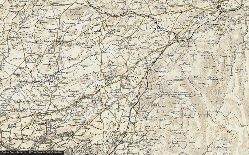 Old Map of Historic Map covering Leawood Ho in 1899-1900