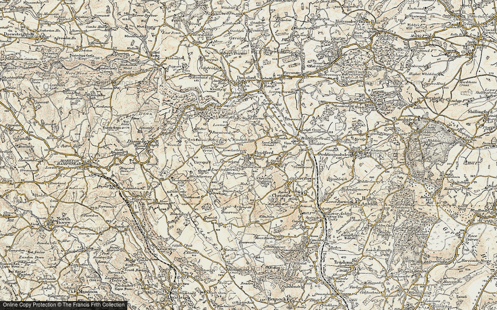 Old Map of Historic Map covering Laployd Barton in 1899-1900