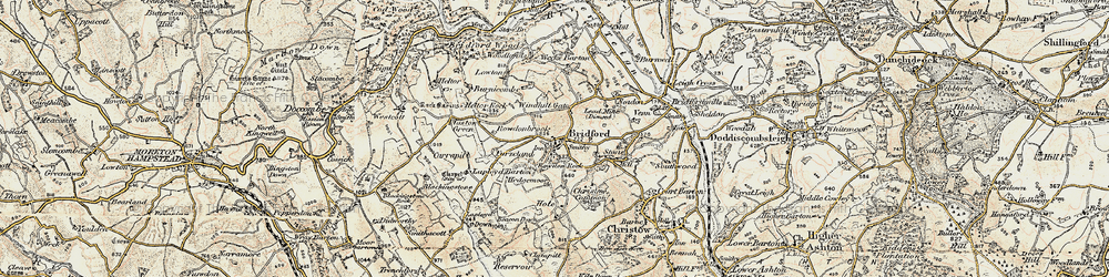 Old map of Windhill Gate in 1899-1900