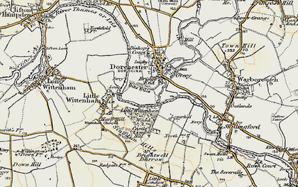 Old map of Bridge End in 1897-1898
