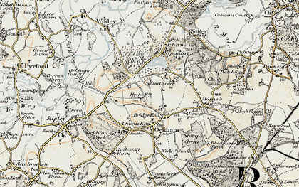 Old map of Bridge End in 1897-1909