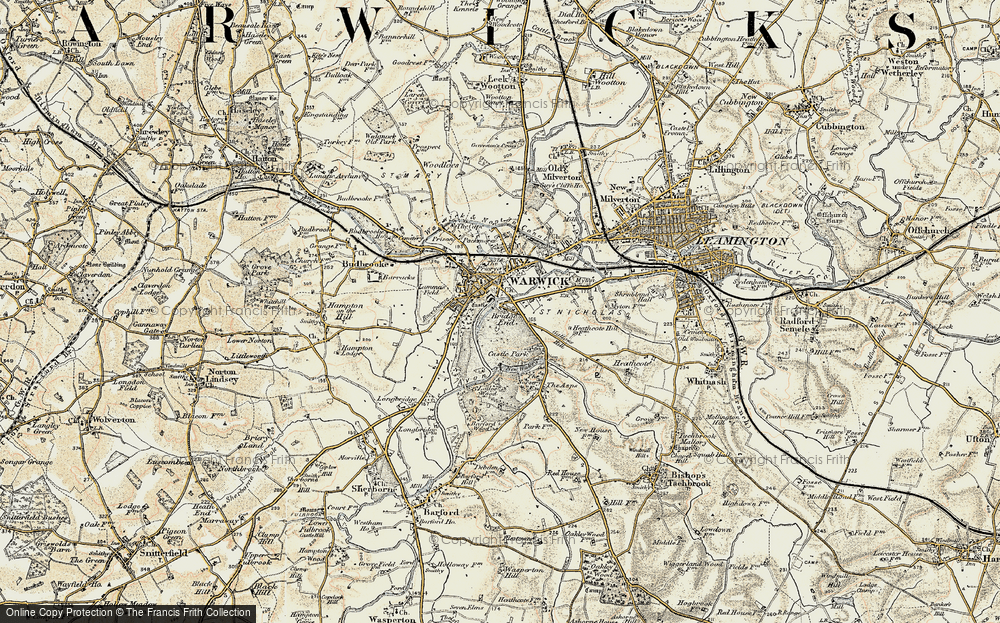 Old Map of Historic Map covering Barford Wood in 1899-1902