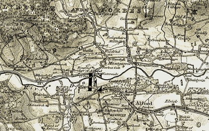 Old map of Whitefield in 1908-1910
