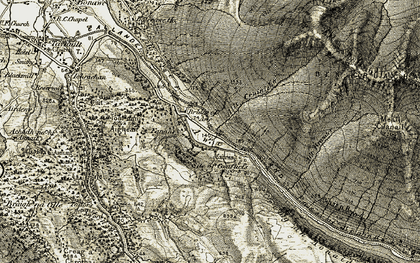 Old map of Allt Gruiniche in 1906-1907