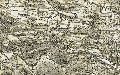 Old map of Woodend in 1908-1909