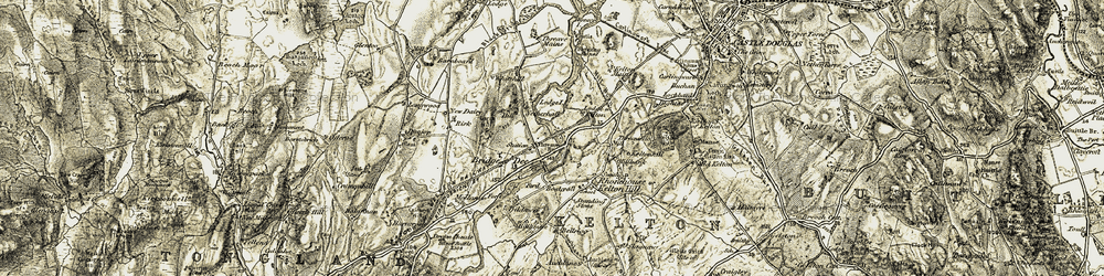 Old map of Whitehill of Balmaghie in 1904-1905