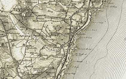Old map of Westport in 1908-1909