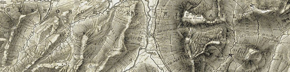 Old map of Allt Coire an Dothaidh in 1906