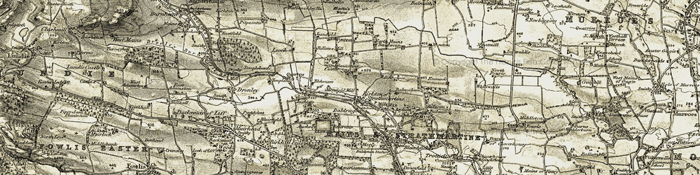 Old map of Wynton in 1907-1908