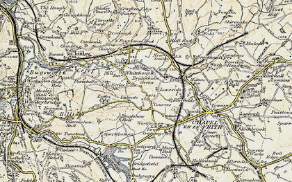 Old map of Lidgate in 1902-1903