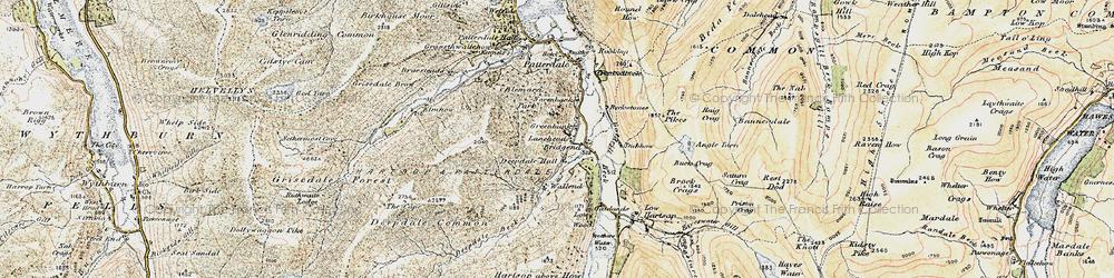 Old map of Aiken Crag in 1901-1904