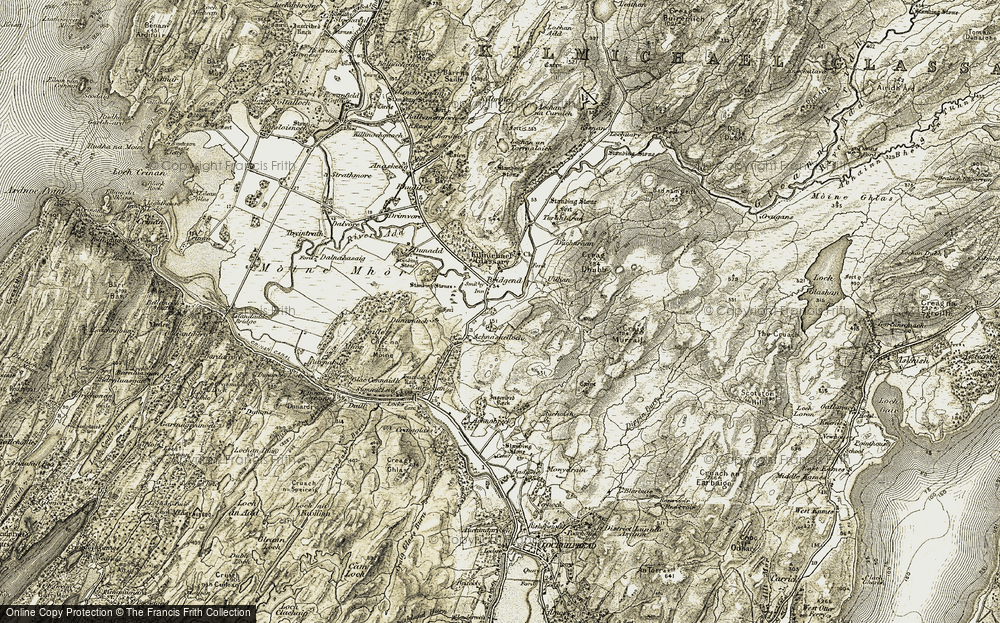 Old Map of Historic Map covering Achnashelloch in 1906-1907