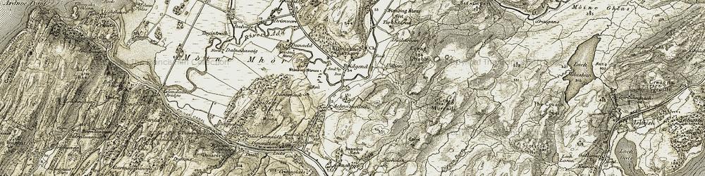 Old map of Achnashelloch in 1906-1907