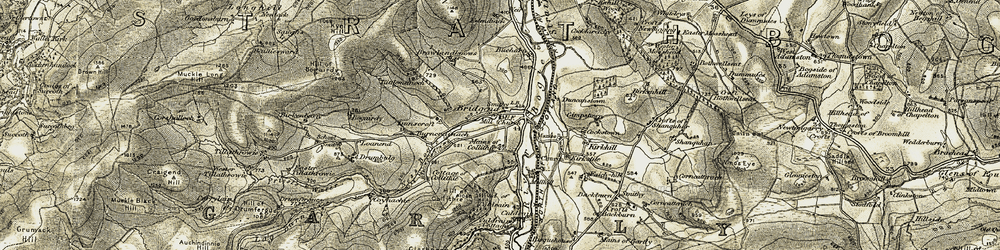 Old map of Wester Newbigging in 1908-1910