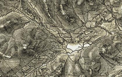 Old map of Tillyarblet in 1908