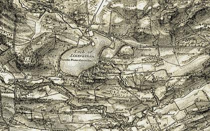 Old map of Auchrannie in 1907-1908